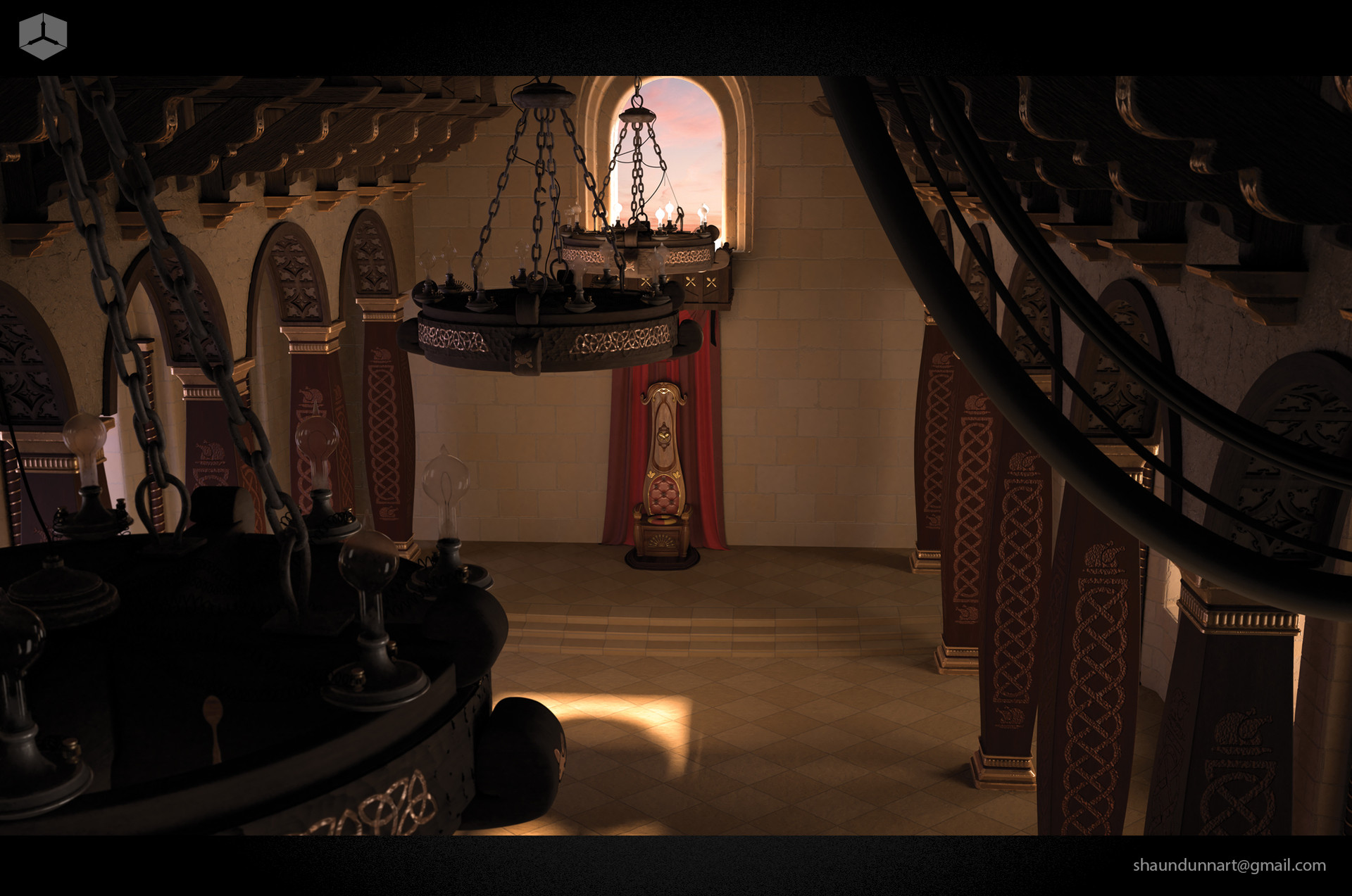 This is a shot of the original environment I designed and developed for my MFA thesis.