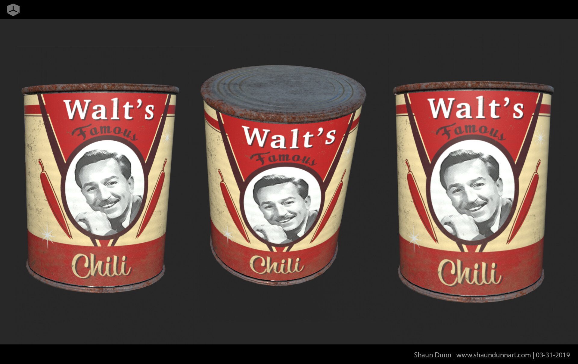 Who knew Walt Disney really has his own Chili recipe? Well he did and perhaps if he canned and sold it maybe he'd like the label I created for this project!