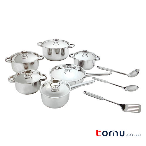 Condere 15 Pieces Stainless-Steel Cookware Set - CDH-001
