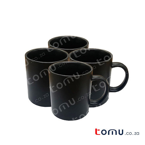 Ceramic Cup Set of 4 (matte black) 160743
