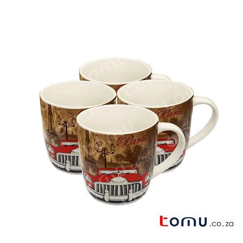 Printed Mug Set of 4 (160714)