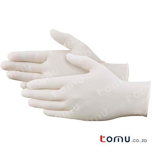 Disposable Latex Gloves (Size: Medium)