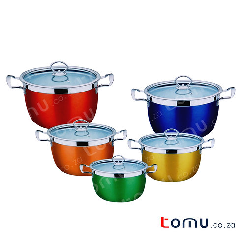 Condere 10 Pieces Stainless-Steel Pot Set (18-26cm) - CDH-002