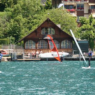 Windsurfschule in Gunten