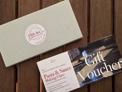 Gift Voucher - 3 Sauces and Meatballs Class