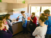 Sauce demonstration at Fifth Ave Katoomba Retreat