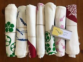 Beautiful 100% linen handprinted tea towels by Promenade Design