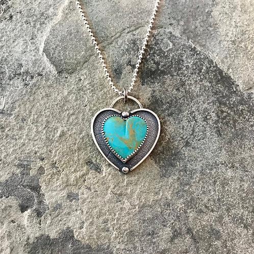 Royston Turquoise Heart Pendant