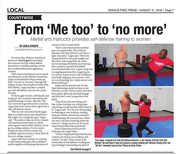 DeKalb Free Press Article pg 1_August 20