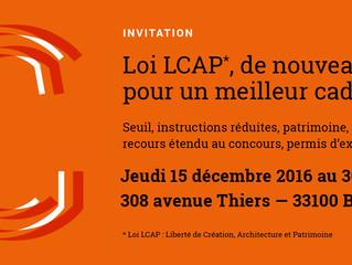 Tables Rondes sur la loi LCAP* au 308