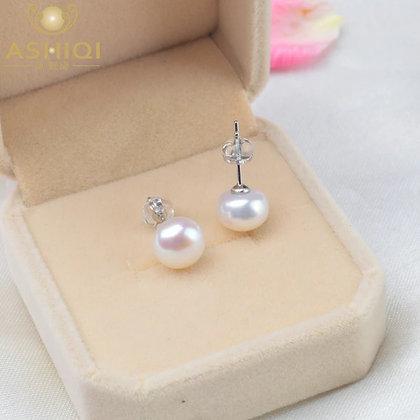 Natural Freshwater Pearl Stud Earrings