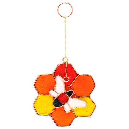 Bee & Honeycomb Suncatcher