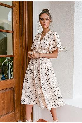 Polka Dot A-Line Dress