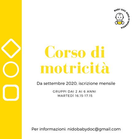 CORSO DI MOTRICITA' DA SETTEMBRE 2020