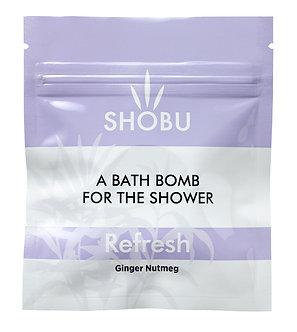 SHOBU REFRESH Shower Bomb - Ginger & Nutmeg