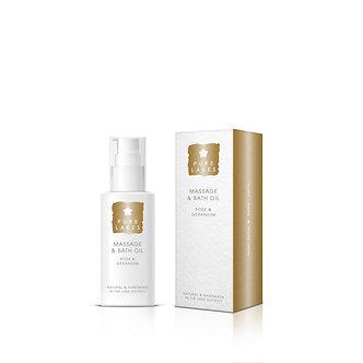 100ml Rose and Geranium Massage and Bath Oil