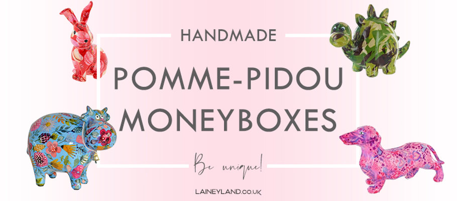 Pomme pidou moneyboxes at Lainey Land gifts