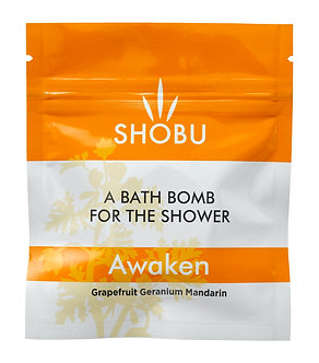 SHOBU AWAKEN Shower Bomb - Grapefruit, Geranium & Mandarin