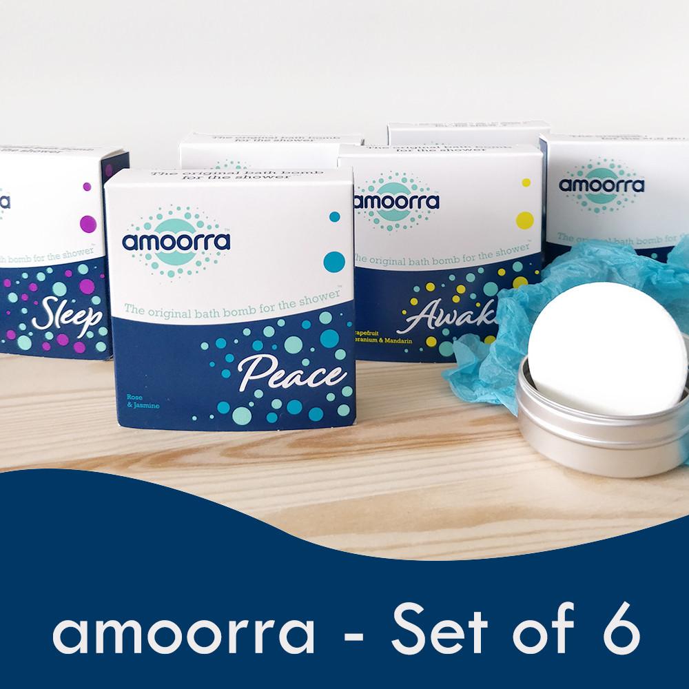amoorra shower bombs set of 6