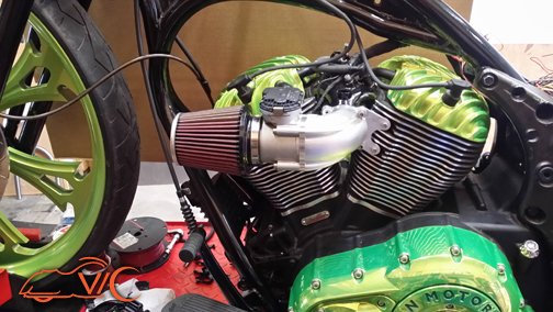 Indian Air Filter Intake VicBaggers Venom Plenum Intake & 60MM Throttle Body