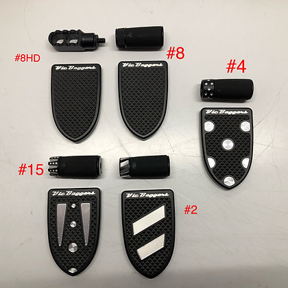 BRAKE PEDAL TOE PEG COMBO FOR HARLEY Big Twin