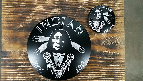 Indian Large Indian Head Derby Cover Combo