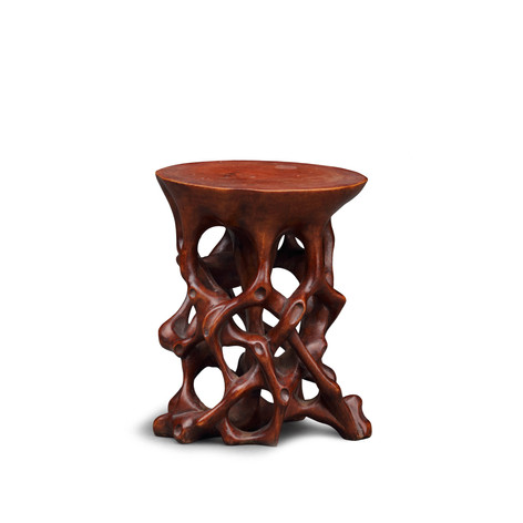 WOOD MINIATURE STAND, 19TH CENTURY