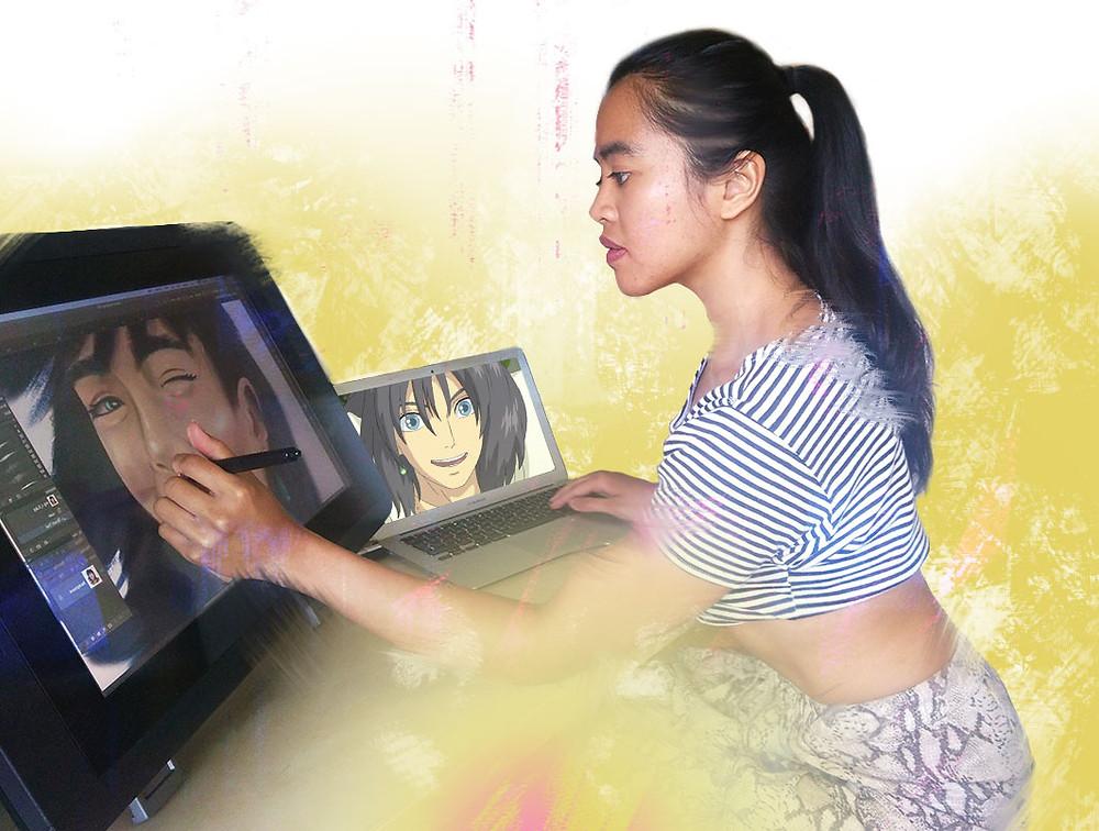 Digital portrait artist