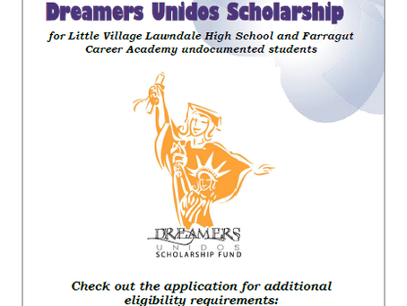 Dreamers Unidos Scholarship Open Now