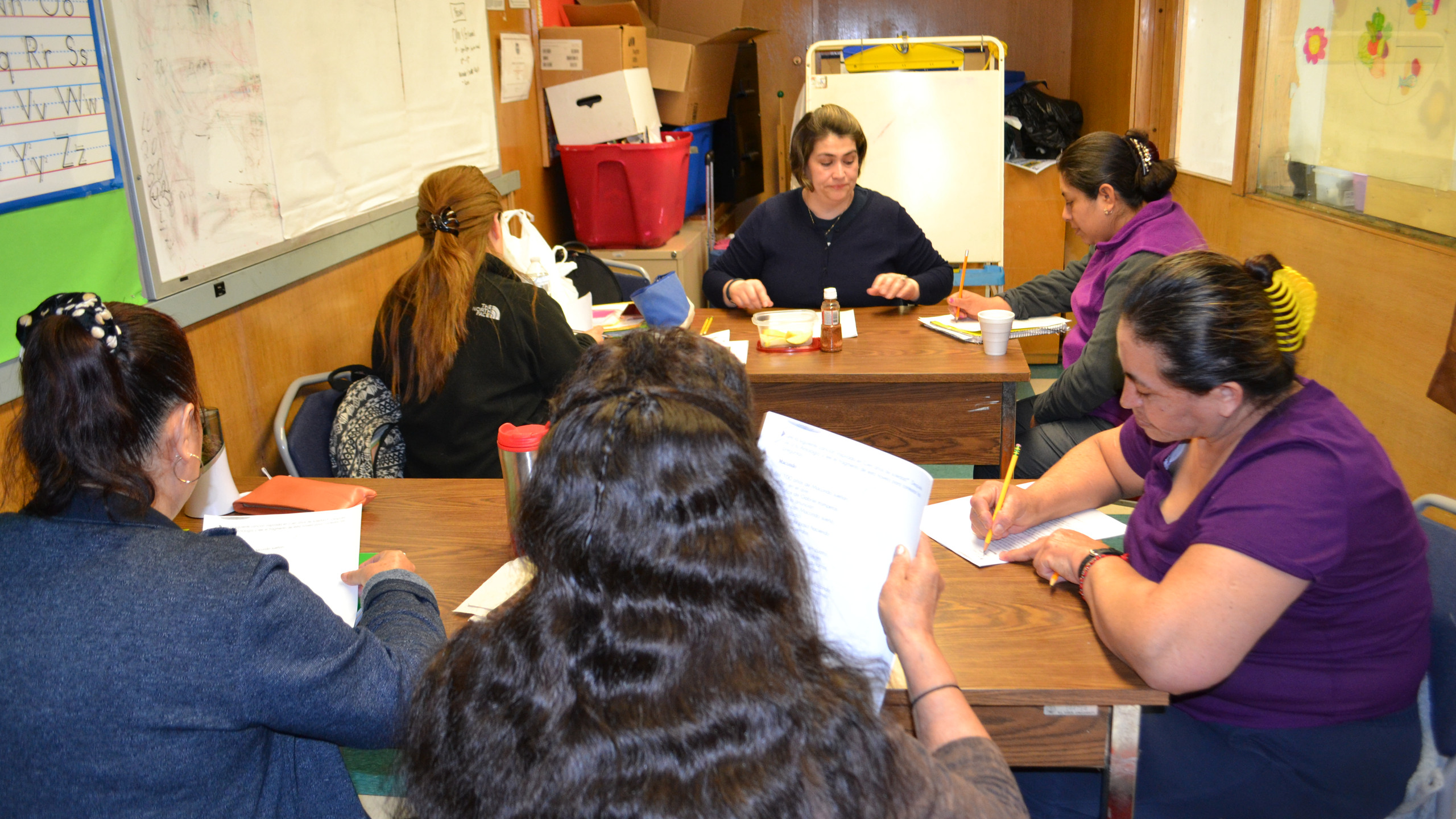 Luz and students at Tcep