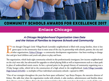 Community Schools Awards for Excellence 2017- Enlace Chicago