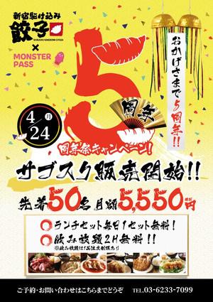 [お知らせ]開業5周年記念キャンペーン