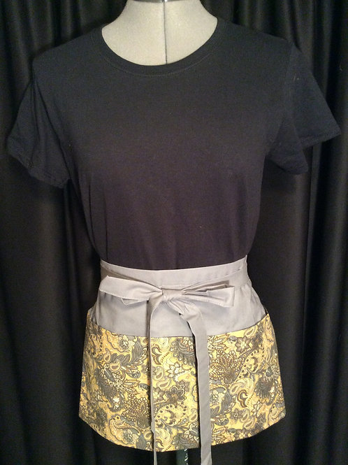 Crafters Apron-gold & grey paisley