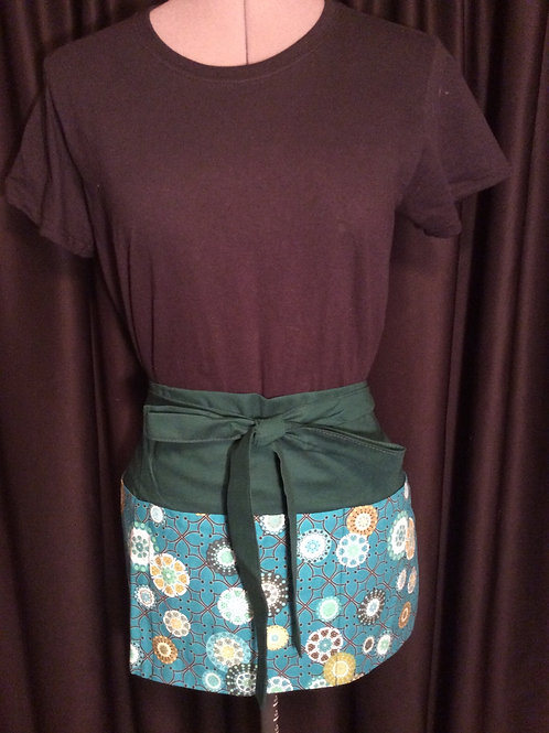 Crafters Apron-Green/turquoise floral