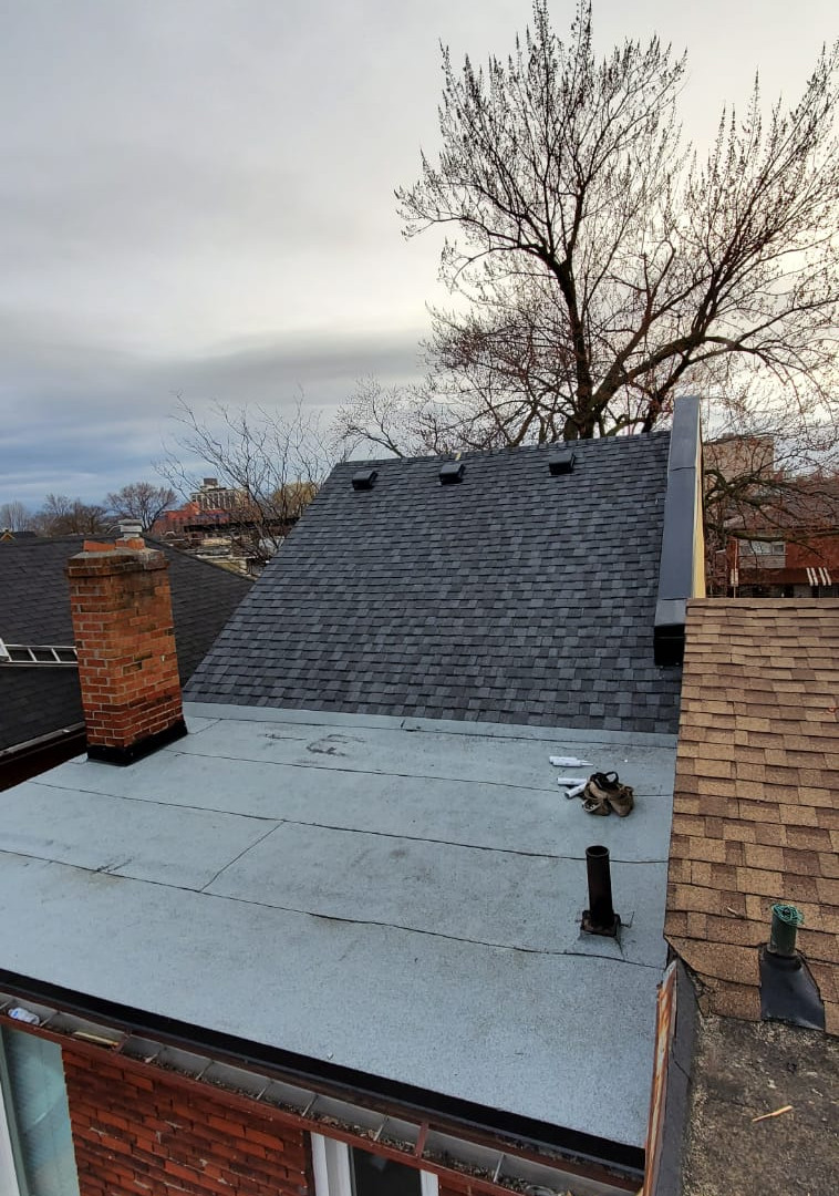Flat Roof and shingle roof - After Installation