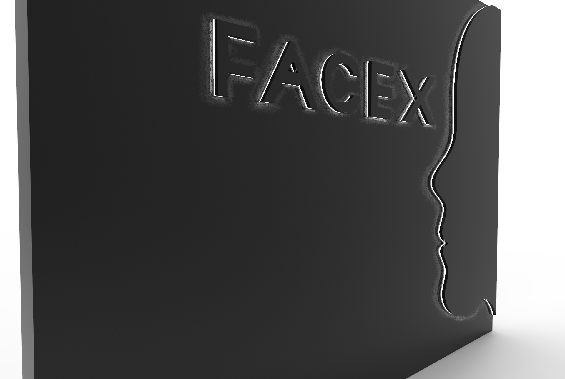FaceX Inner wall sign