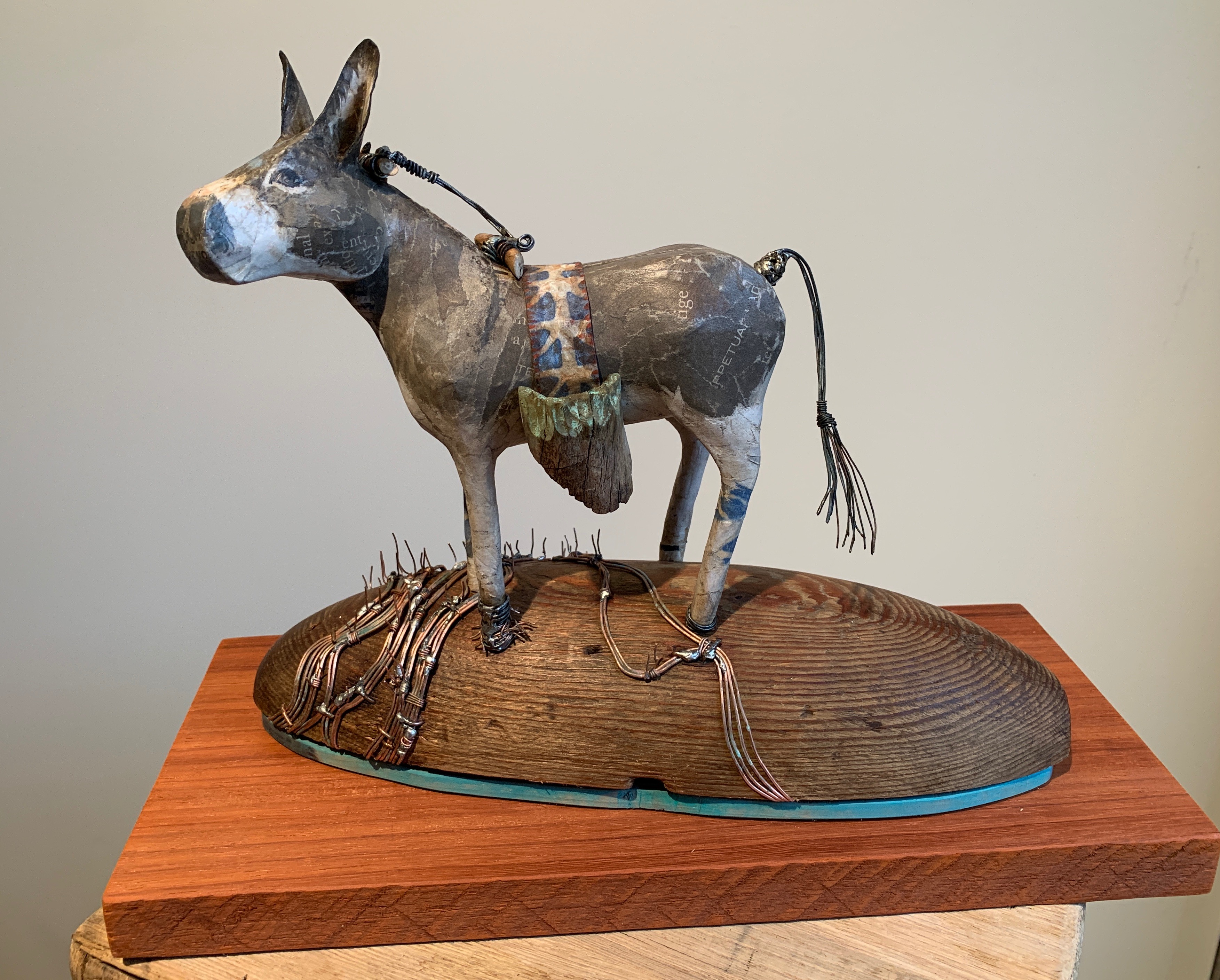 Donkey on a Dome amid the wheat