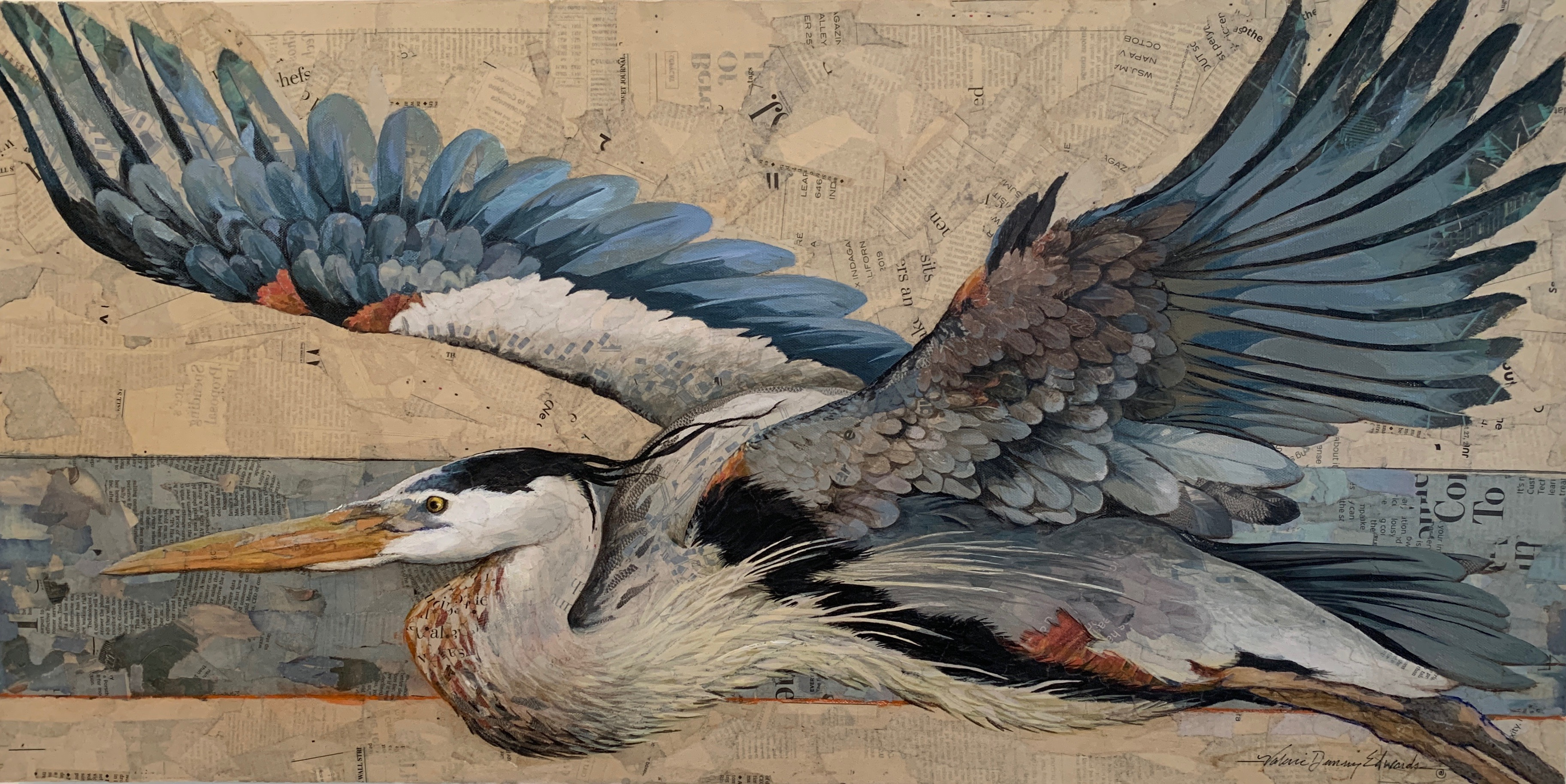 Great Blue Heron / SOLD