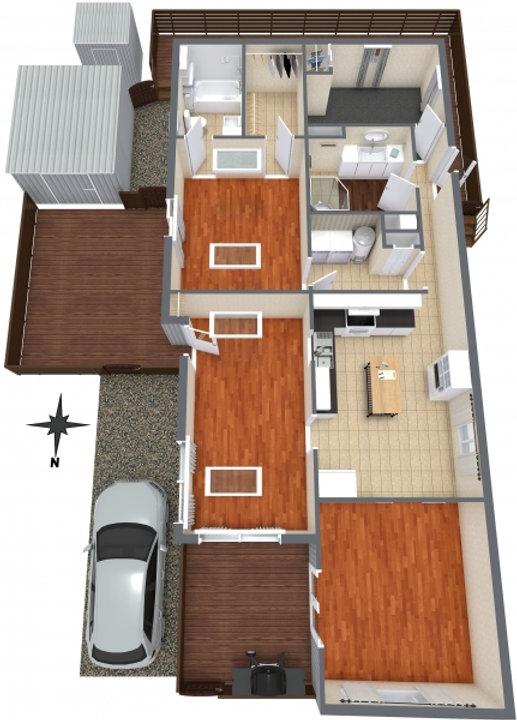 Honey Drive - Level 1 - 3D Floor Plan.jp