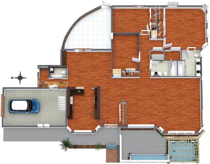 1914 Kelsie Road - Level 1 - 3D Floor Pl