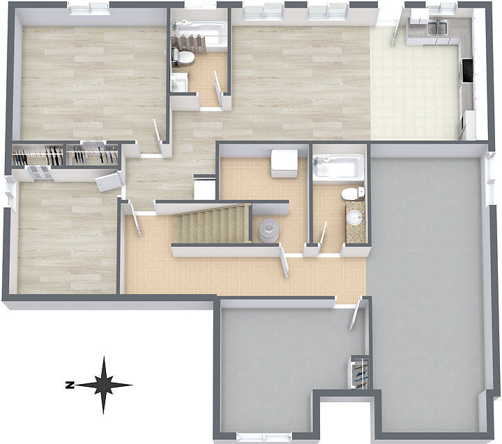 2278 Kingsford Place - Lower Level - 3D