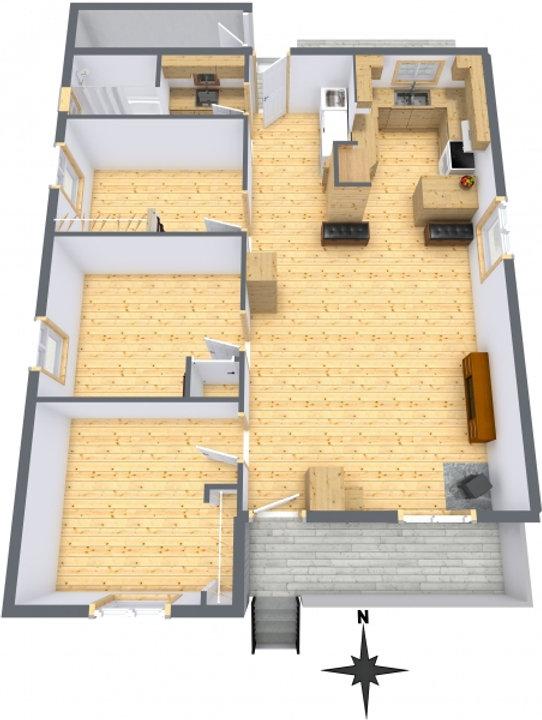 578 Milton Street - Level 1 - 3D Floor P