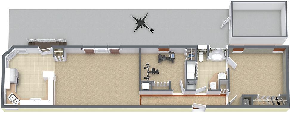 1102 Morrell Circle - Level 1 - 3D Floor