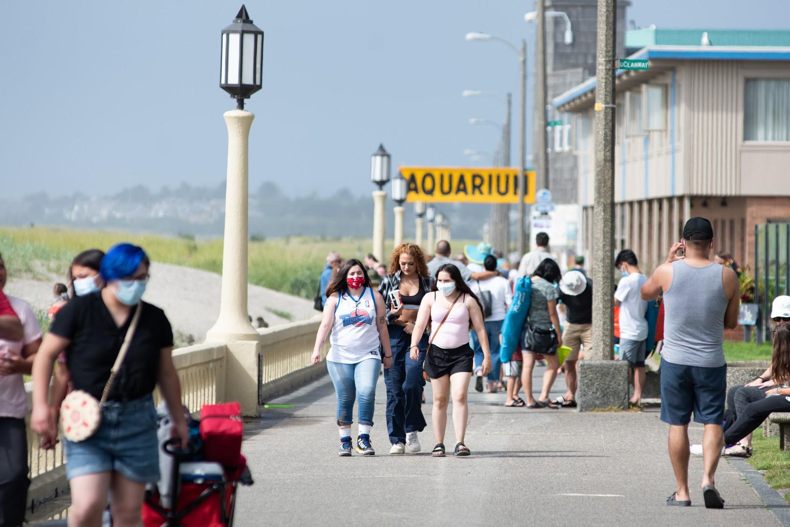 Tourists return