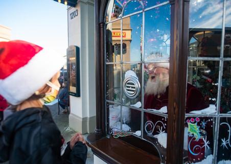 Santa in a bubble