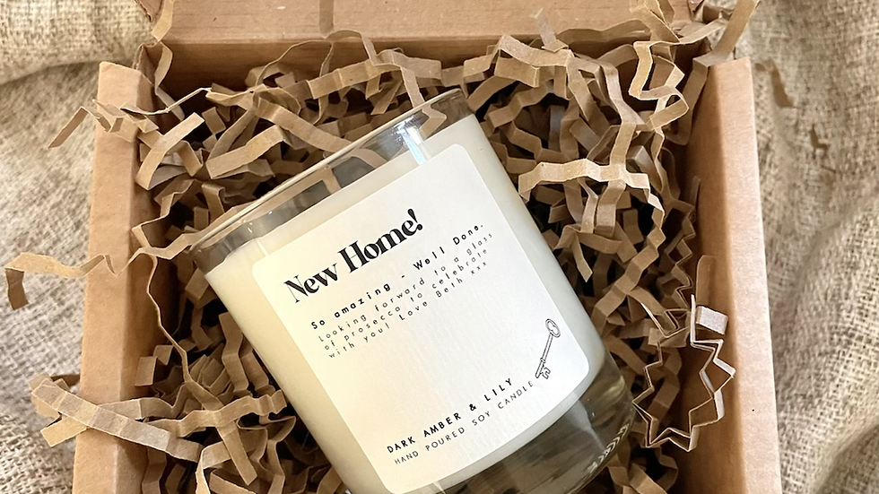 personalised candle - 20cl clear glass