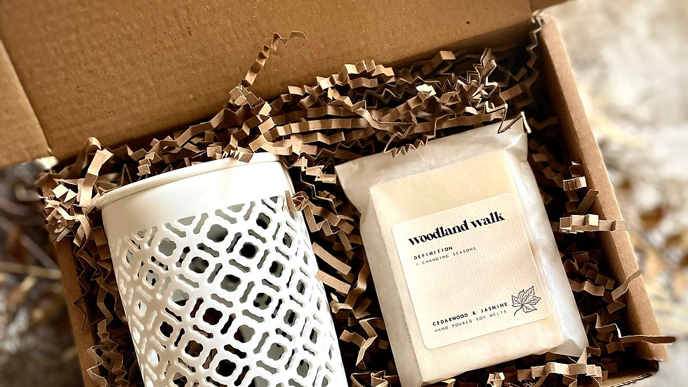 lattice burner & botanical wax bar