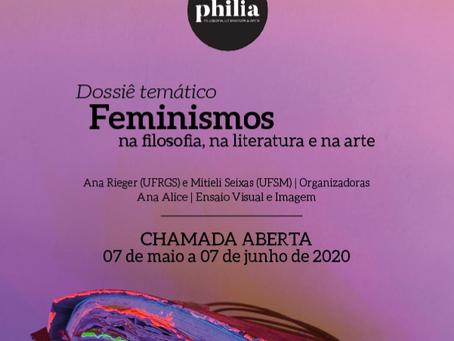 [PHILIA] Chamada para publicação - Dossiê temático: Feminismos na filosofia, na literatura e na arte