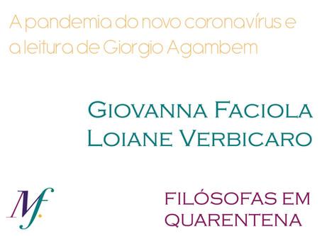 A pandemia do novo coronavírus e a leitura de Giorgio Agamben