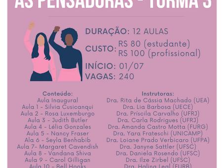 Curso On line: As Pensadoras INSCRIÇÕES ENCERRADAS